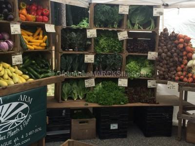 Farmer's Market stand for gluten-free eating
