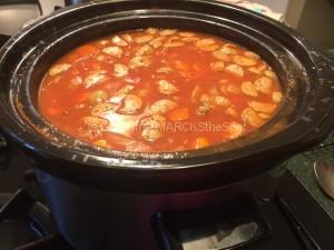 gluten-free minestrone soup in a crock pot
