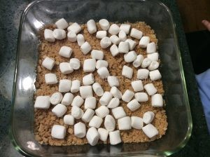 making gluten-free s'mores bars