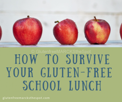 How to Survive Your Gluten-free School Lunch