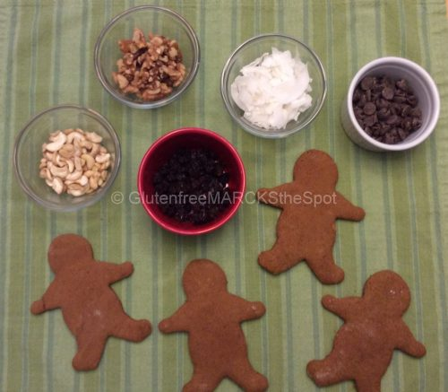 Gluten-free gingerbread cookies, ready to decorate