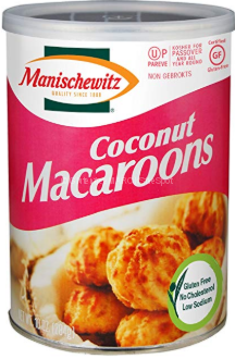 container of gluten-free coconut macaroons