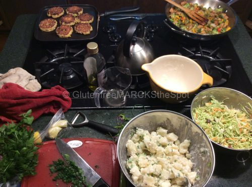Batch cooking meals and sides