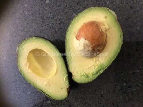 Gluten-free Avocado cut in half