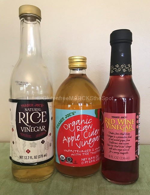 gluten-free vinegars for the gluten-free pantry