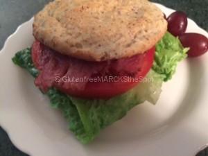 gluten-free tomato sandwich