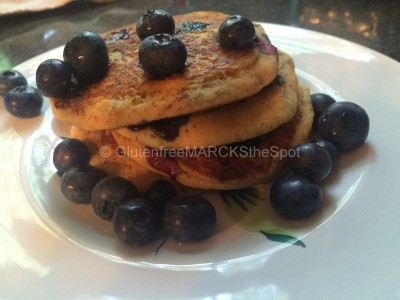 gluten-free blueberry pancakes