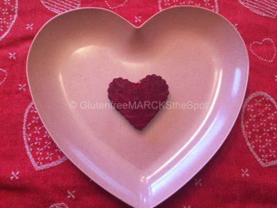 gluten-free beet sliced as a heart