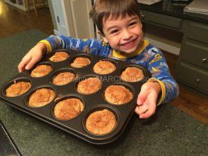 Sammy baking gluten-free muffins