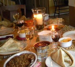 gluten-free thanksgiving table