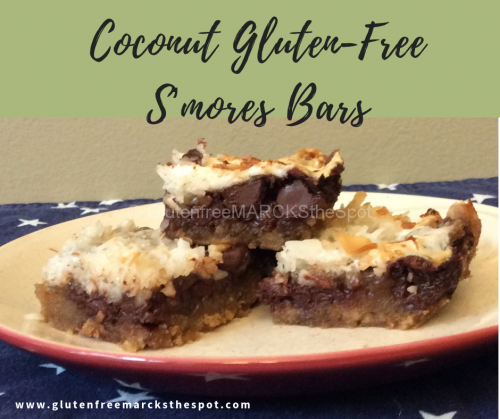 Plate of Coconut Gluten-Free S'Mores Bars