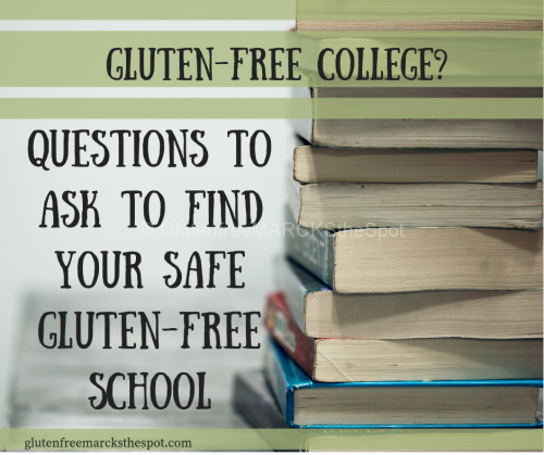 Questions to Help Find a Gluten-free College