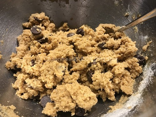 mixing gluten-free easy coconut bars