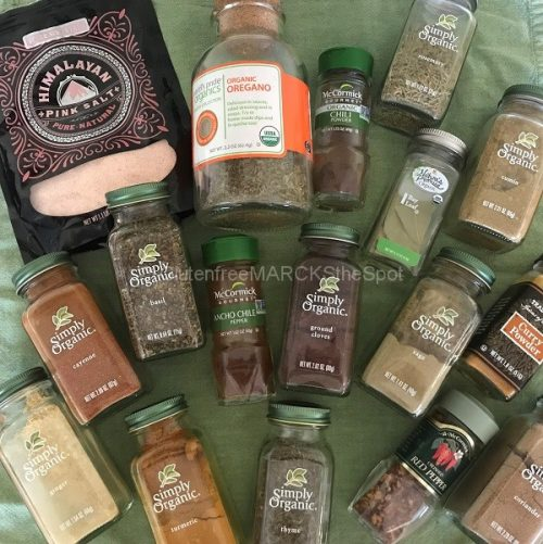 gluten-free spices for a gluten-free pantry