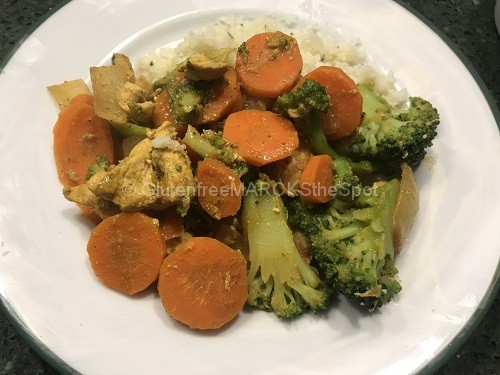 Gluten-Free Curry Chicken on a plate
