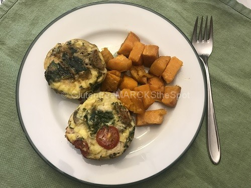 Gluten-Free Frittatas ready to eat