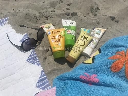 gluten-free sunscreens