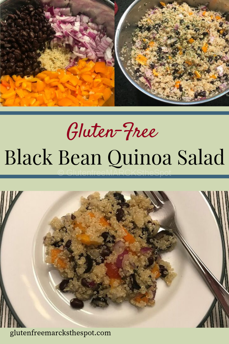 Make this delicious gluten-free, simple black bean quinoa salad for your next lunch or dinner. It is sure to please everyone and makes great leftovers.