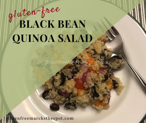 gluten-free black bean quinoa salad