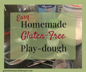 Easy Homemade gluten-free play-dough