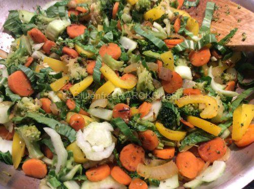 Gluten-free veggie stir fry
