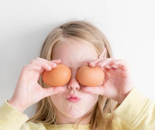 Child with Egg eyes