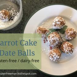 Gluten-Free Carrot Cake Date Balls