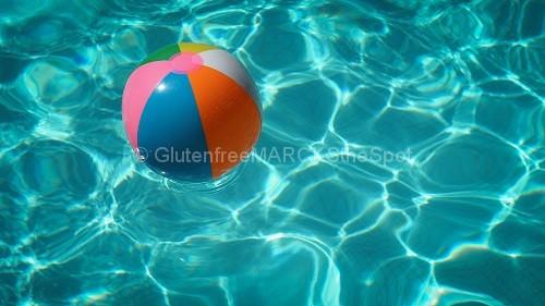 gluten-free summer beach ball in water