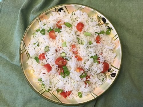 gluten-free summer rice salad