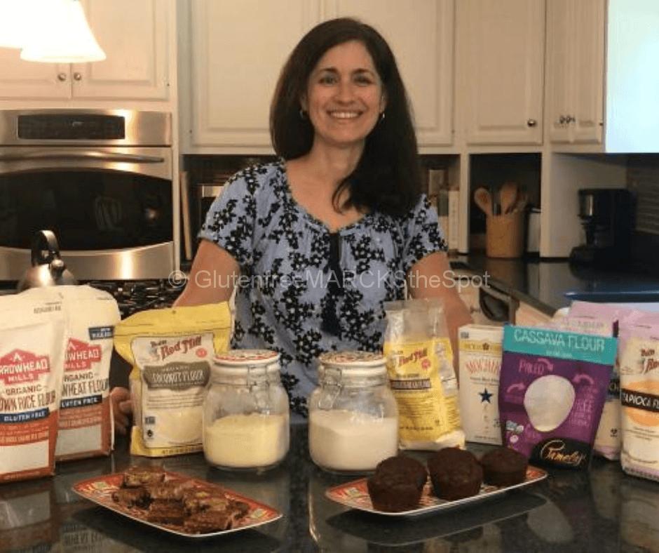 Jennifer gluten-free baking in the kitchen