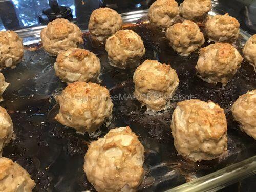 making gluten-free meatballs