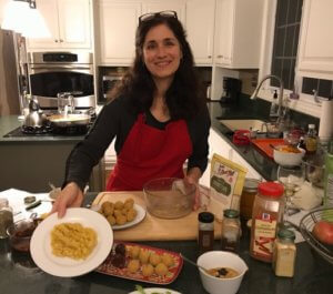 Jennifer cooking gluten-free