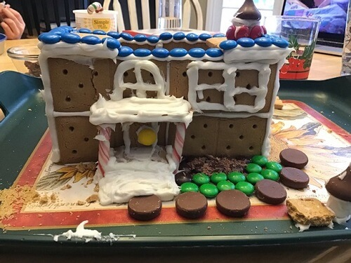 gluten-free gingerbread house
